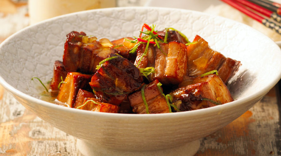 Twice Cooked Pork Belly With Ginger Honey Sauce